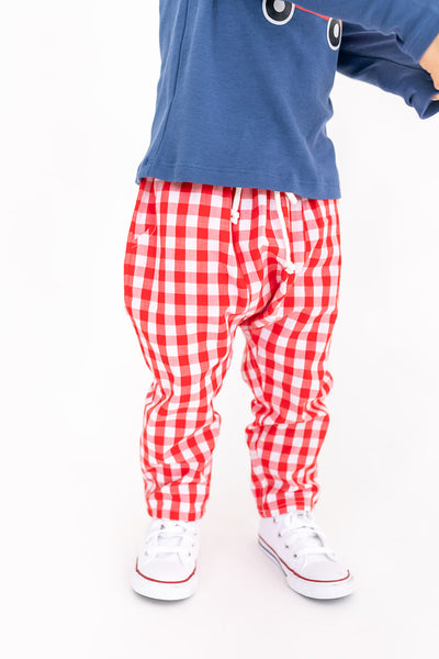 CLARK PANT - RED GINGHAM