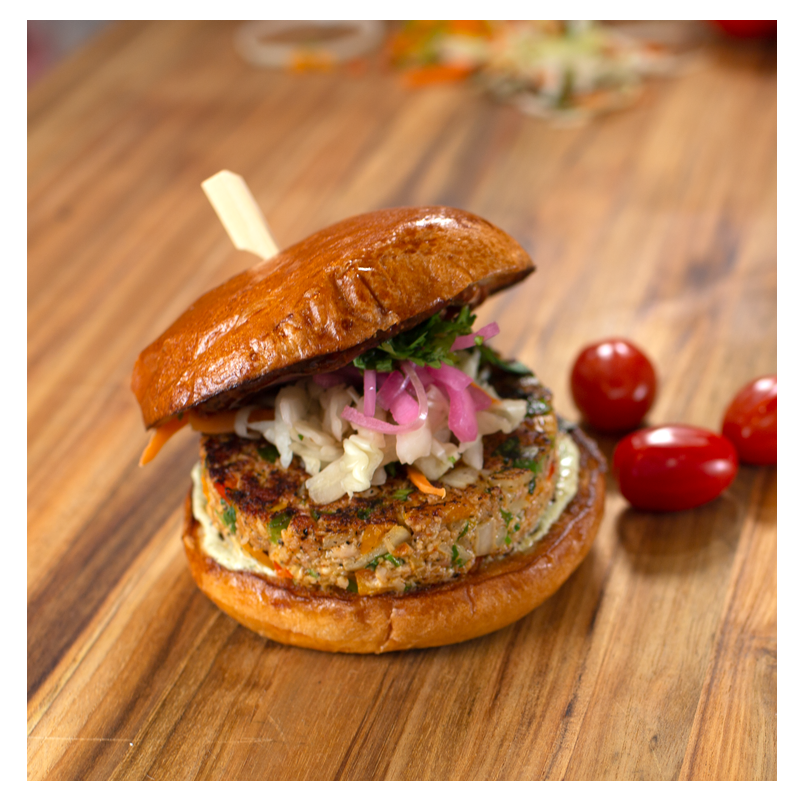 Smoked Masala Chicken Burger