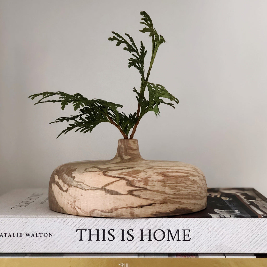 spalted beech, your scars are beautiful, vase, bud vase, art, decor