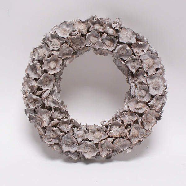 coco cap wreath, whitewash