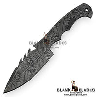 "Hand Forged Damascus Steel Blank Blade 9.00"" Hunting Knife Making Supplies 