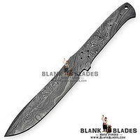 "Hand Forged Damascus Steel Blank Blade 10.00"" Knife Making Supplies 