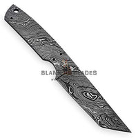 "Hand Forged Damascus Steel Blank Blade 8.50"" as Tanto Knife Making Supplies 