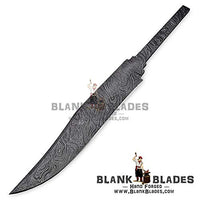 "Hand Forged Damascus Steel Blank Blade 14.50"" Bowie Knife Making Supplies 