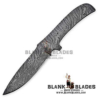 "Hand Forged Damascus Steel Blank Blade 9.50"" Knife Making Supplies 