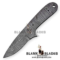 "Hand Forged Damascus Steel Blank Blade 6.00"" Skinner Knife Making Supplies 