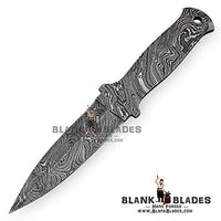 "Hand Forged Damascus Steel Blank Blade 9.00"" as Dagger Knife Making Supplies 