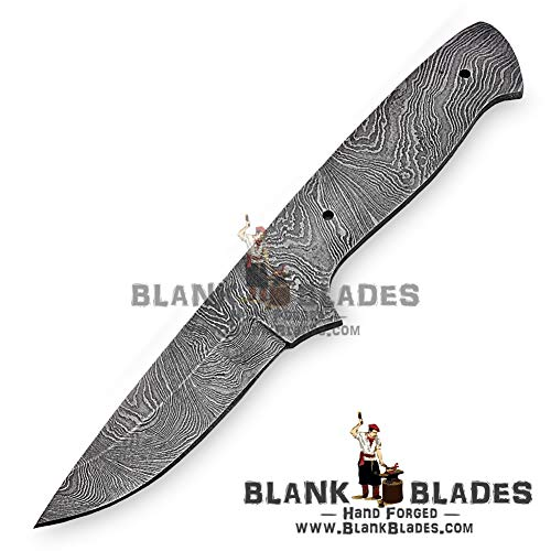 "Hand Forged Damascus Steel Blank Blade 7.00"" Skinner Knife Making Supplies 