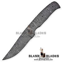 "Hand Forged Damascus Steel Blank Blade 8.25"" Skinner Knife Making Supplies 