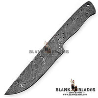 "Hand Forged Damascus Steel Blank Blade 9.00"" Knife Making Supplies 