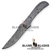 "Hand Forged Damascus Steel Blank Blade 8.50"" Skinner Knife Making Supplies 