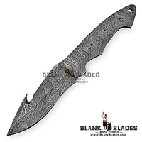 "Hand Forged Damascus Steel Blank Blade 9.00"" as Guthook Knife Making Supplies 