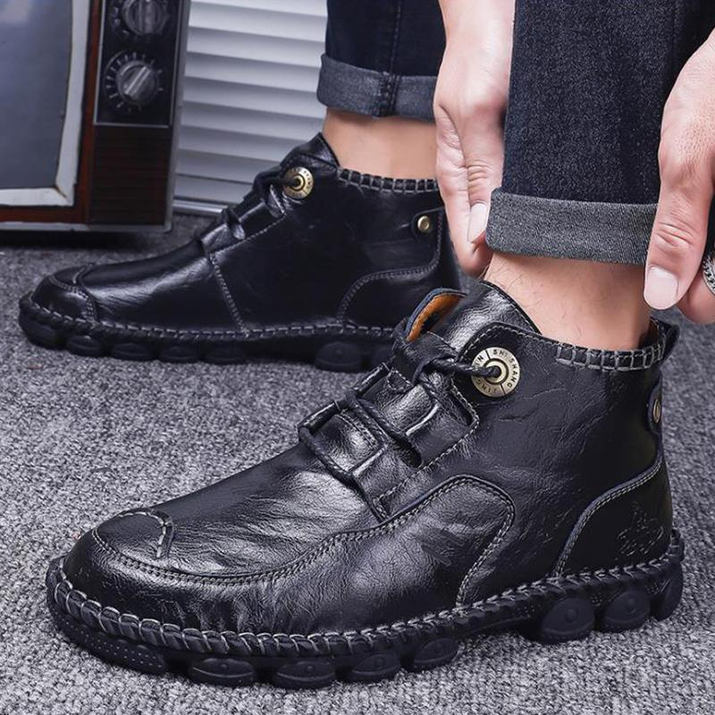 Men's Soft Sole Wearable Casual Leather Shoes