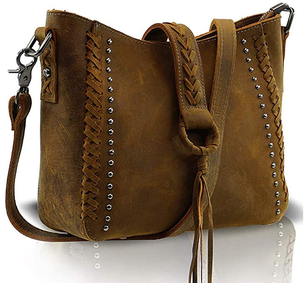 Genuine Leather Concealed Carry Crossbody Purse With Long Strap