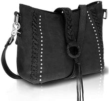 Load image into Gallery viewer, Genuine Leather Concealed Carry Crossbody Purse With Long Strap