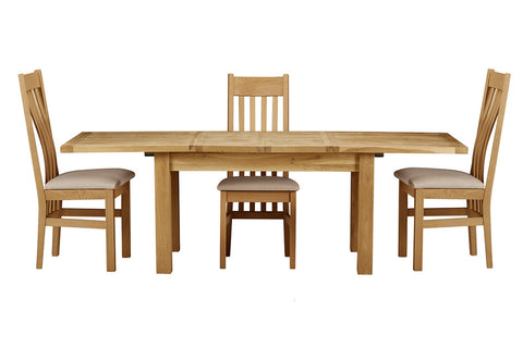 European Acorn Oak - dining table - extending 3 sizes available - 4 to 12 seater options