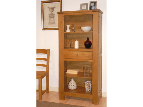 French Valley Oak - bookcase low - 1 drawer