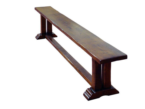 French Country Oak - Dining Bench - pillar leg Monastery - 2 sizes