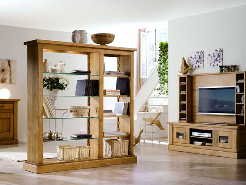French Country Oak - Tarn Range bookcase room divider
