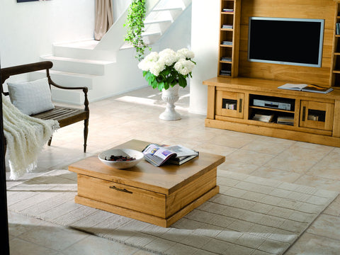 French Country Oak - Tarn Range coffee table trunk square