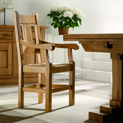 French Mountain Oak - Dining Carver Chair - Grande plank back