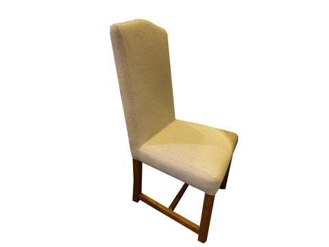 French Valley Oak Dining Chair - Upholstered fabric