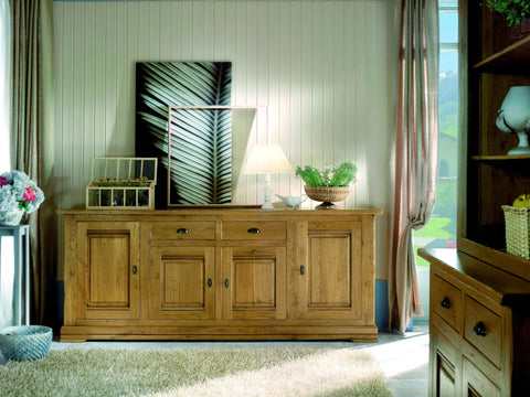French Country Oak - Jonte Range sideboard 4 door