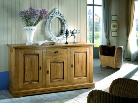 French Country Oak - Jonte Range sideboard 3 door