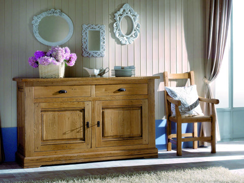 French Country Oak - Jonte Range sideboard 2 door wide