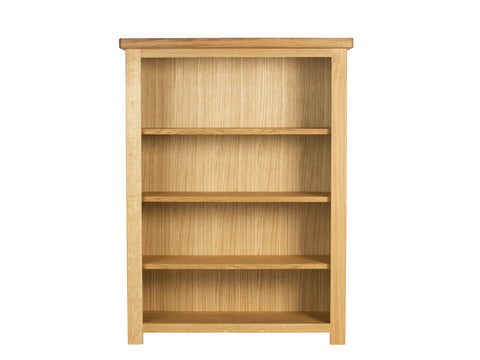 European Acorn Oak - bookcase - low and wide