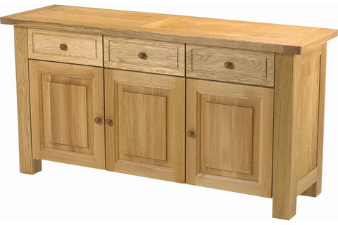European Acorn Oak - sideboard 3 door - 3 drawers