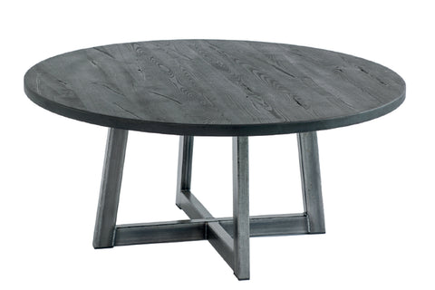 Designer Ash - Ancona Range Round Coffee Table - 3cm thick -  Stee lLeg