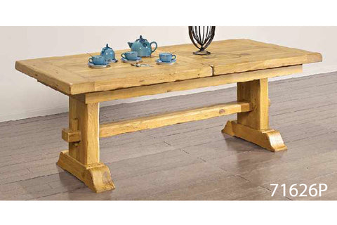 Extending French Mountain Oak Monastery Table - Beam leg