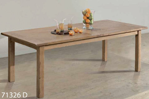 Farmhouse French Mountain Oak Centrally Extending Table - lightweight 2.8cm top - no footrail