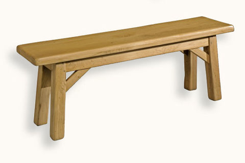 French Mountain Oak - Bench - Alpine Rustic Range - 6 sizes