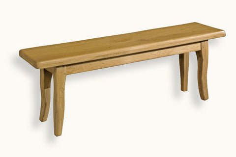 French Mountain Oak - Bench - Provence Range legs - 6 sizes