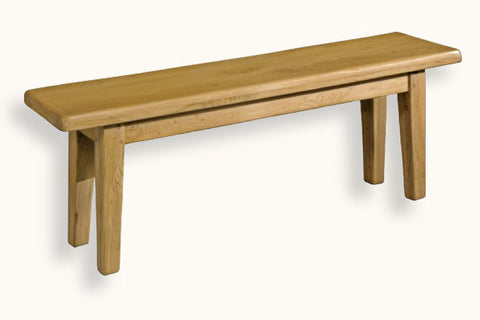 French Mountain Oak - Bench - farmhouse with tapered legs - 6 sizes