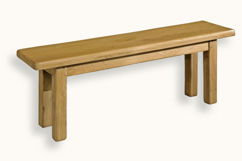 French Mountain Oak - Bench - farmhouse with square legs - 6 sizes