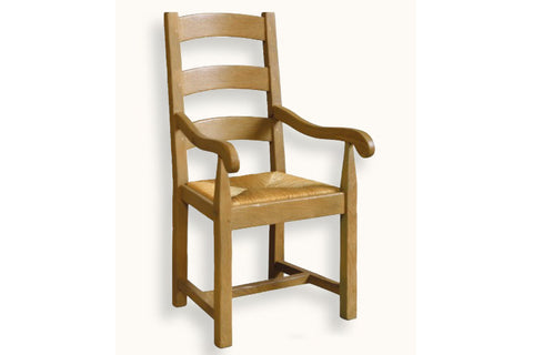 French Mountain Oak - Dining Carver Chair - ladderback