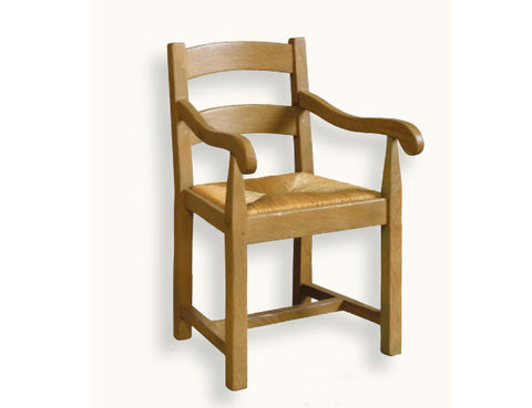 French Mountain Oak - Carver Chair - low ladderback