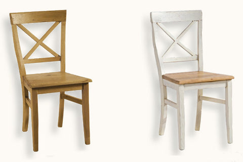 French Mountain Oak - Dining Chair - Provence X back