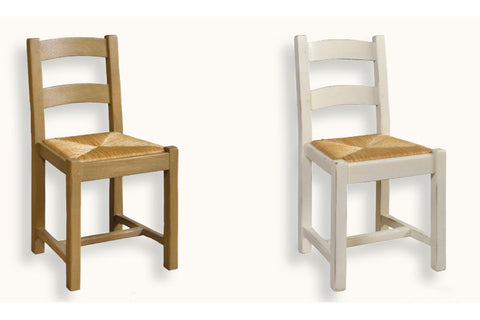 French Mountain Oak - Dining Chair - low ladderback
