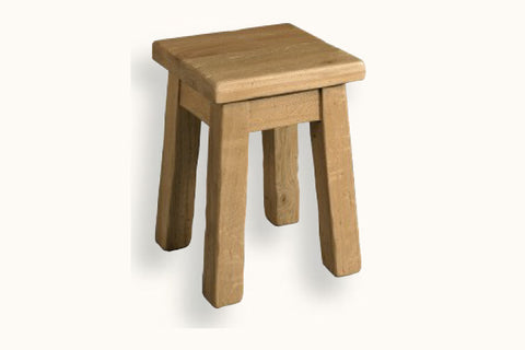 French Mountain Oak - Dining Stool - low and rustic