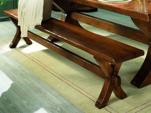 French Country Oak - Dining Bench - X leg Monastery - 3 sizes