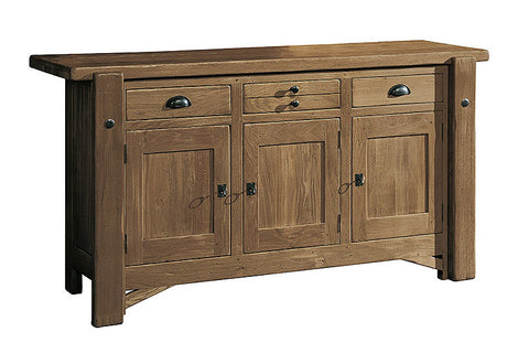 French Mountain Oak - Alpine Range sideboard 3 door