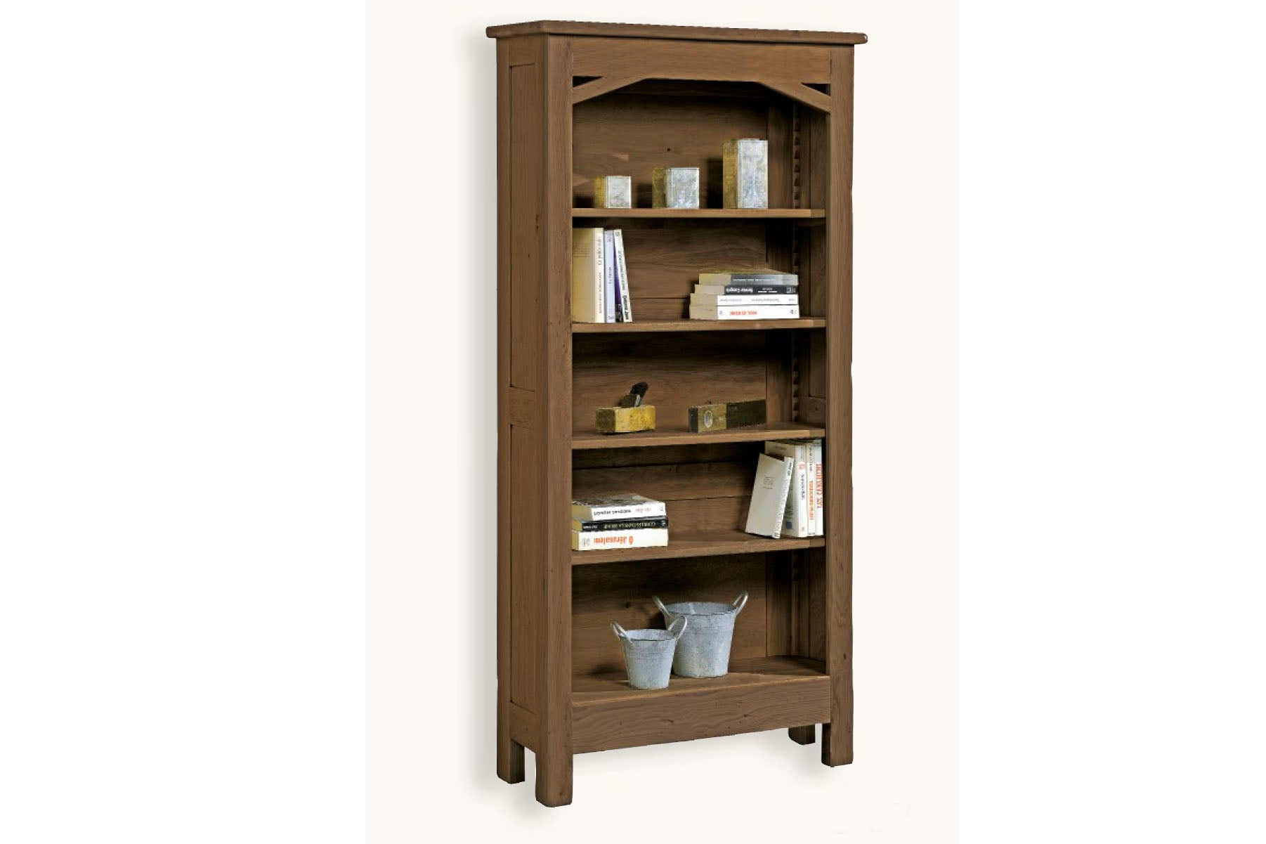 French Mountain Oak Alpine Range Bookcase Wide And Tall
