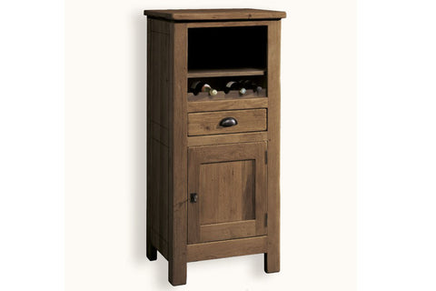 French Mountain Oak - Alpine Range Bookcase - low with cupboard
