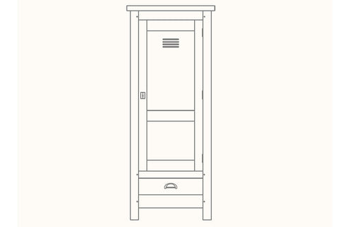 French Mountain Oak - Alpine Range Cabinet - narrow and tall