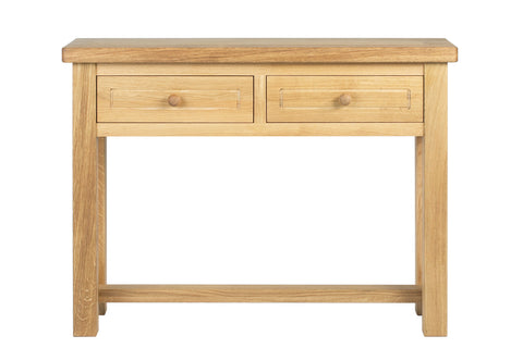 European Acorn Oak - console table - 2 drawer