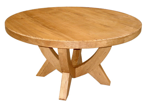 French Mountain Oak Round Table - V leg
